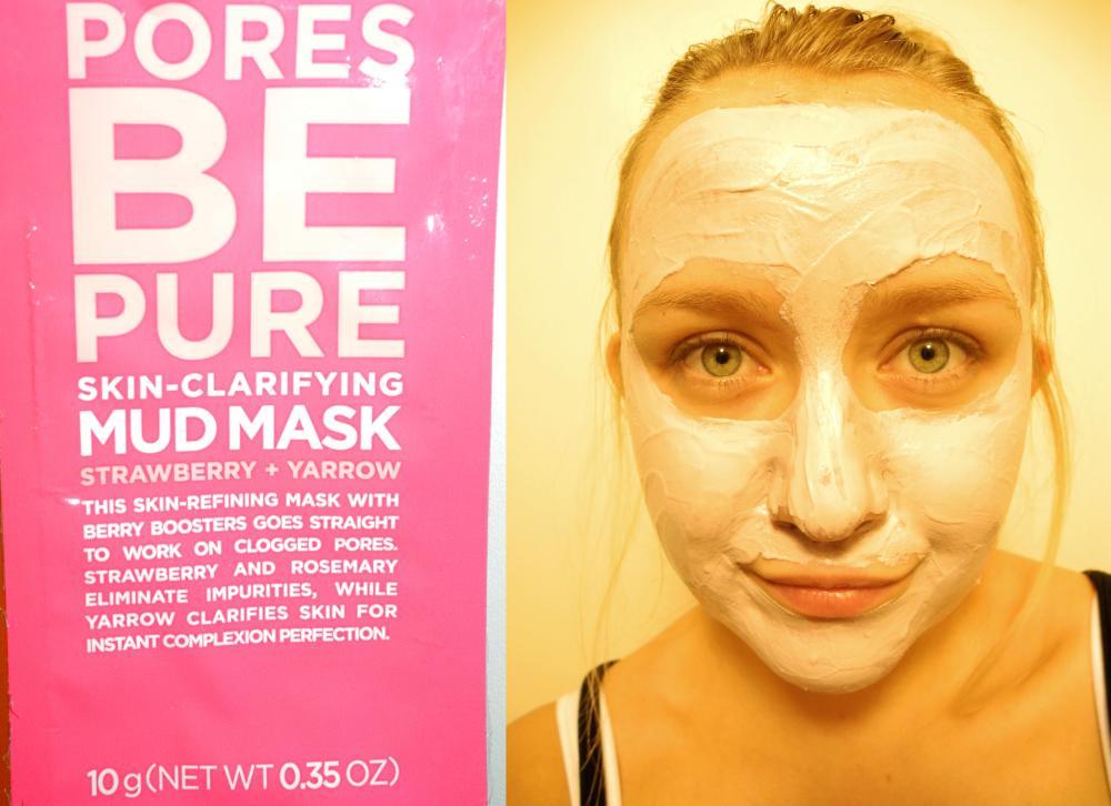 Ansiktsmasken Pores Be Pure på mig.