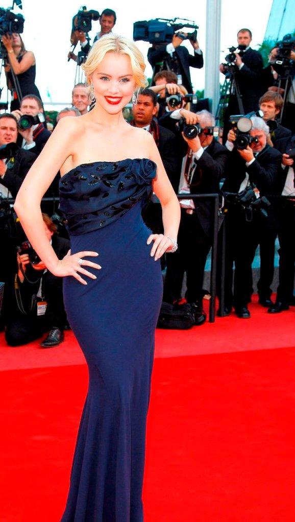 Helena Mattsson på röda mattan.