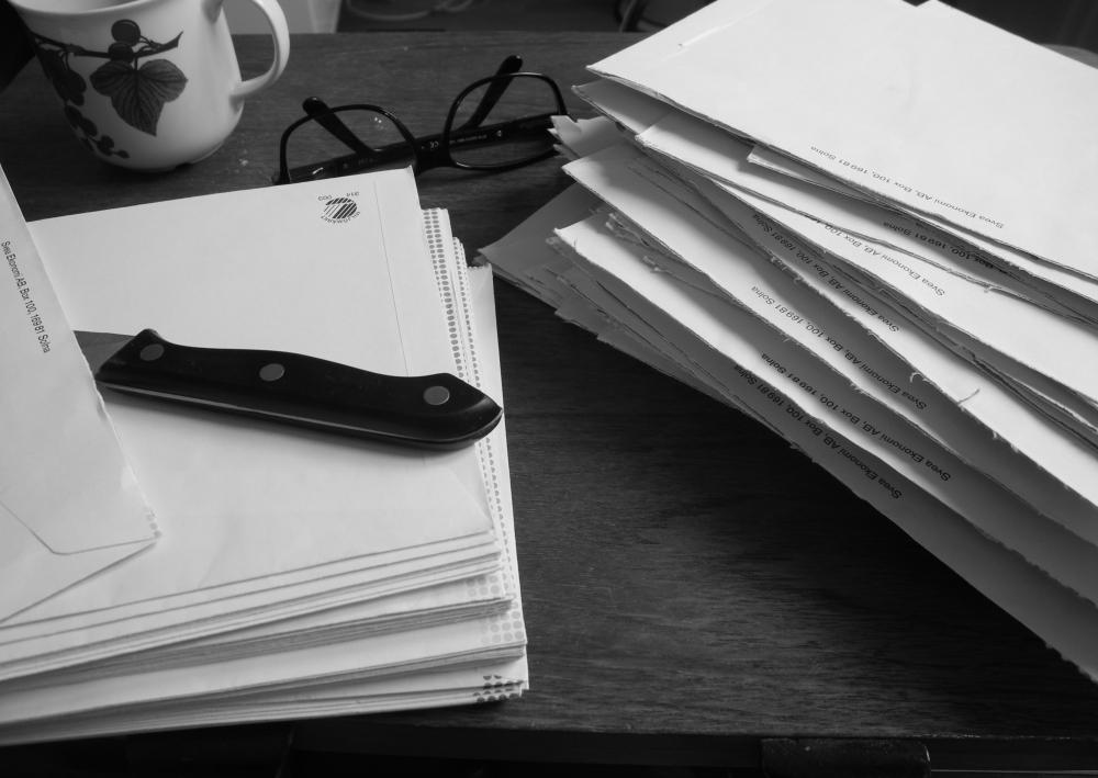 många kuvert