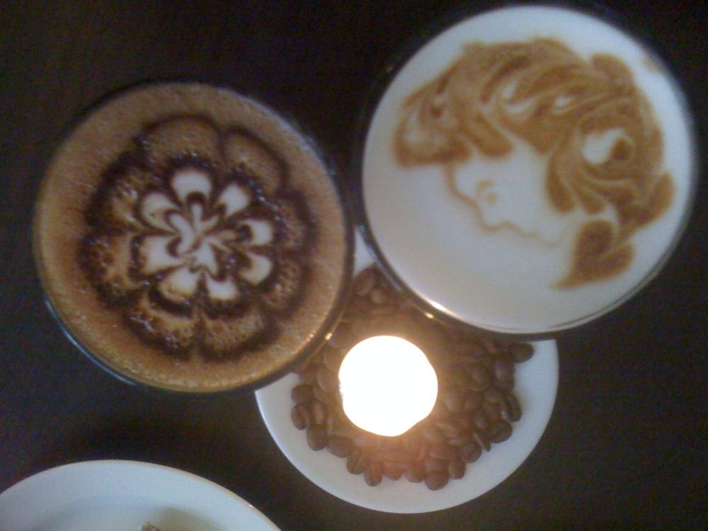 kaffe latte på drottninggatan